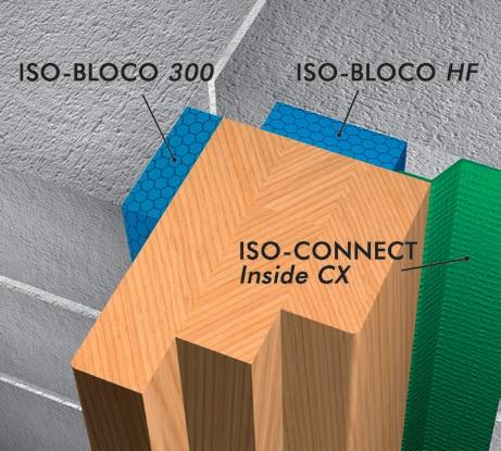 Bloco HF 4, akende paigaldus lint, soojustus, aurutõke, paisuteip