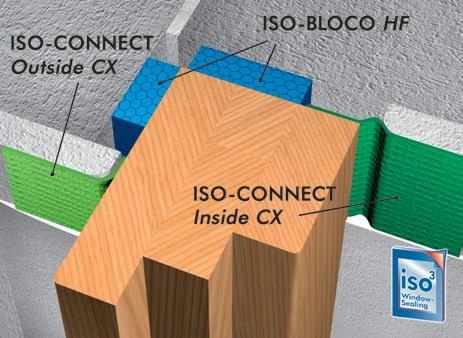 Bloco HF isepaisuv lint 2, akende paigaldus lint , soojustus, aurutõke, paisuteip