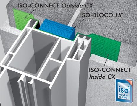 Bloco HF isepaisuv lint 3, akende paigaldus lint, soojustus, aurutõke, paisuteip