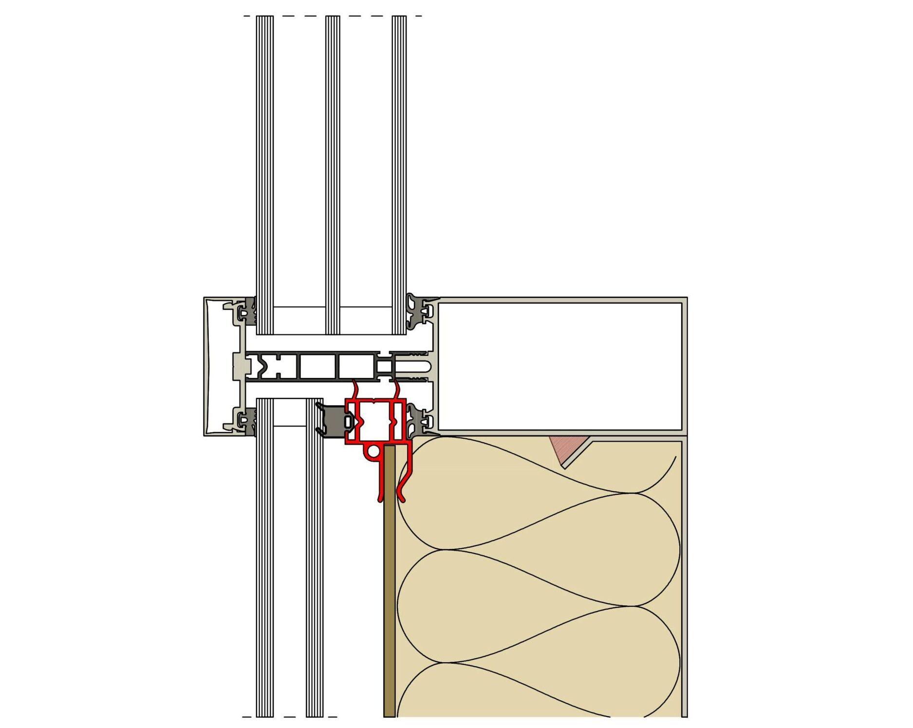 Parapet frame profiles, parapet area, parapet, spandrel glazing, parapet infill